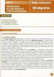 Problèmes économiques contemporains - Intérieur - Format classique