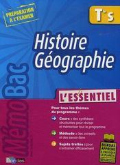 Histoire-géographie ; terminale S - Intérieur - Format classique