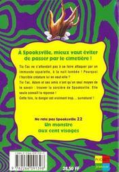 Spooksville N.21 ; Le Prix Du Sacrifice - 4ème de couverture - Format classique