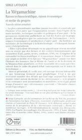 La megamachine raison technoscientifique, raison economique et mythe du progres - 4ème de couverture - Format classique