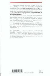 Gestion Financiere ; Etudes De Cas ; Annales Decf ; Epreuve N.4 - 4ème de couverture - Format classique