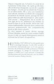 Français, comme vous avez changé ; histoire des français depuis 1945 - 4ème de couverture - Format classique