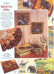 Collage De Serviettes En Papier - 4ème de couverture - Format classique