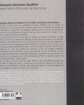 Jacques-Germain Soufflot - 4ème de couverture - Format classique