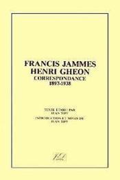 Francis Jammes - Henri Gheon - Couverture - Format classique