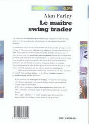 Le Maitre Swing Trader - 4ème de couverture - Format classique