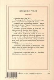 Chucho - 4ème de couverture - Format classique