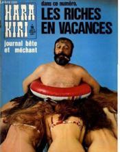 Hara-Kiri Mensuel Journal Bete Et Mechant N°119 - Les Riches En Vacances - Couverture - Format classique