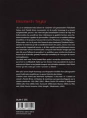 Elisabeth Taylor - 4ème de couverture - Format classique