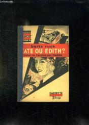 Kate Ou Edith ? - Couverture - Format classique