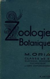 SCIENCES NATURELLES, ZOOLOGIE, BOTANIQUE, CLASSES DE 5e, ENSEIGNEMENT SECONDAIRE, CC, ENSEIGNEMENT TECHNIQUE - Couverture - Format classique