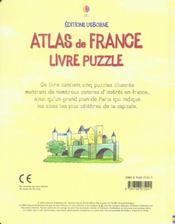 Atlas de france - 4ème de couverture - Format classique