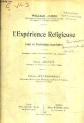 L'Experience Religieuse Essai De Psychologie Descriptive. - Couverture - Format classique