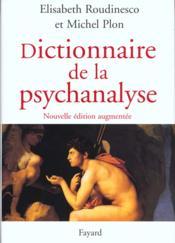 Dictionnaire de la psychanalyse - Couverture - Format classique