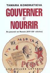 Gouverner et nourrir - Intérieur - Format classique