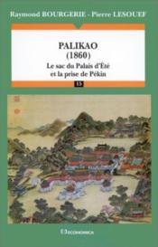 Palikao, 1860 - Couverture - Format classique