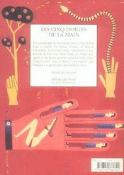Les cinq doigts de la main - 4ème de couverture - Format classique