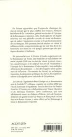 Les arts de l'équitation dans l'Europe de la Renaissance - 4ème de couverture - Format classique