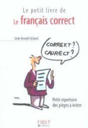 Le petit livre de français correct - Couverture - Format classique