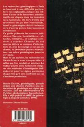 Genealogie paris et ile de france - 4ème de couverture - Format classique