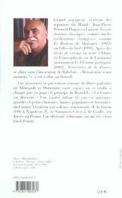 Traversées de la France - 4ème de couverture - Format classique