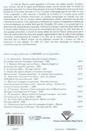 Organisation Et Dynamique Urbaines Du Nord Du Massif Central. Auvergn E - Limousin - Nivernais - 4ème de couverture - Format classique