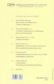 Mélanges carmélitains - 4ème de couverture - Format classique
