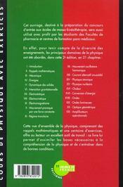 Cours De Physique Annales Corrigees 1996/1997- 2eme Edition - 4ème de couverture - Format classique