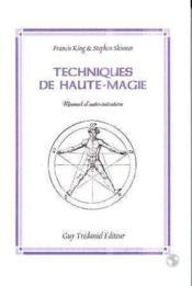 Techniques de haute-magie - Couverture - Format classique
