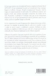 Maurice ravel,le jardin feerique - 4ème de couverture - Format classique