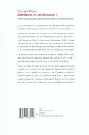 Entretiens Et Conferences Tome 2. - 4ème de couverture - Format classique