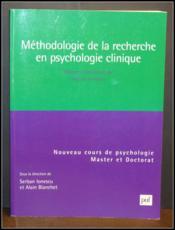 Méthodologie de la recherche en psychologie clinique - Couverture - Format classique