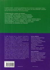 Méthodologie de la recherche en psychologie clinique - 4ème de couverture - Format classique