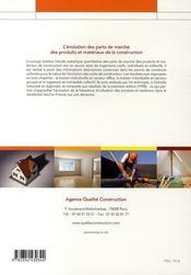 L'évolution des parts de marché des produits et matériaux de la construction - 4ème de couverture - Format classique