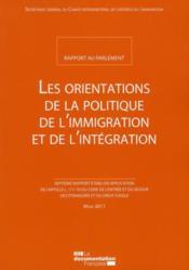 Les orientations de la politique de l'immigration ; rapport 2010 - Couverture - Format classique