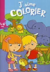 J'AIME COLORIER ; j'aime colorier ; zoo - Couverture - Format classique