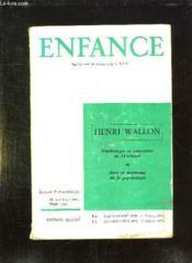 Enfance N° Special. 3- 4 Mai Octobre 1959. 1 - 2 Janvier Avril 1963. Psychologie Et Education De L Enfance. - Couverture - Format classique