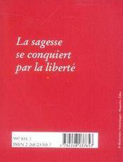 Le petit livre de la sagesse - 4ème de couverture - Format classique
