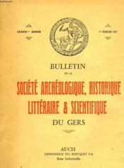 BULLETIN DE LA SOCIETE ARCHEOLOGIQUE, HISTORIQUE, LITTERAIRE ET SCIENTIFIQUE DU GERS, LXXXIIIe ANNEE, 1er TRIMESTRE 1982 - Couverture - Format classique