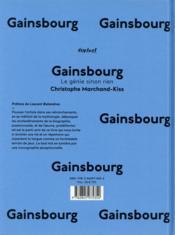 Gainsbourg, le génie sinon rien - 4ème de couverture - Format classique