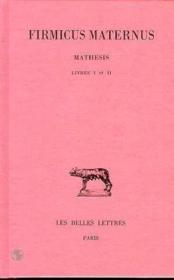 Mathesis t.1 ; L1-2 - Couverture - Format classique