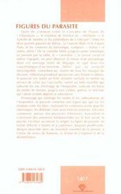 Figures Du Parasite - 4ème de couverture - Format classique