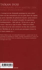Itinéraire d'un maître zen venu d'occident - 4ème de couverture - Format classique