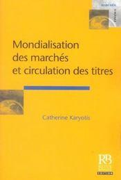 Mondialisation des marches et circulation des titres - Intérieur - Format classique