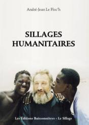 Sillages humanitaires - Couverture - Format classique