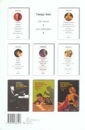 Revue Temps Noir N.8 - 4ème de couverture - Format classique
