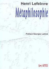 Metaphilosophie - Intérieur - Format classique