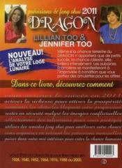 Dragon 2011 ; prévisions et feng shui - 4ème de couverture - Format classique