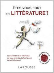 Êtes-vous fort en littérature ? - Couverture - Format classique