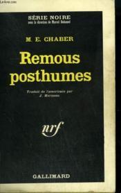 Remous Posthumes. Collection : Serie Noire N° 915 - Couverture - Format classique